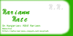 mariann mate business card